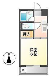 愛知県名古屋市中村区烏森町3丁目の賃貸マンションの間取り
