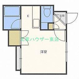 北海道札幌市東区北十五条東18の賃貸マンションの間取り
