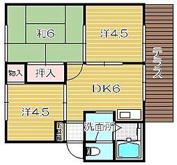 サンモリックA棟[1階]の間取り