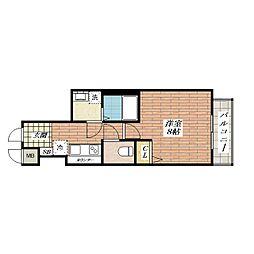 カミオン別院[3階]の間取り