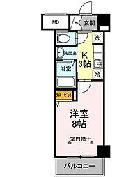 神奈川県川崎市川崎区中瀬2丁目の賃貸マンションの間取り
