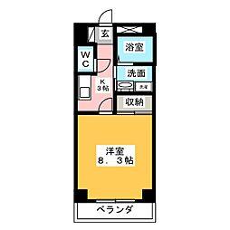 ANNEX UEDA[4階]の間取り