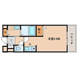奈良県奈良市大安寺6丁目の賃貸マンションの間取り