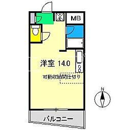 アトラクトEM[3階]の間取り