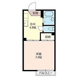 グレイスタウン A[1階]の間取り