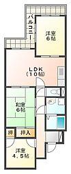 兵庫県神戸市垂水区千鳥が丘1丁目の賃貸マンションの間取り