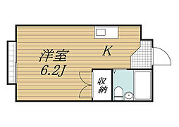 千葉県成田市新町の賃貸アパートの間取り