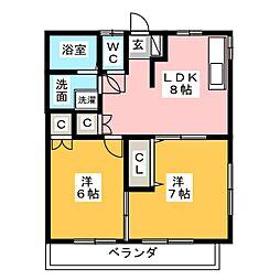 ソワサントSK−V[2階]の間取り