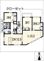 Pleasant[5階]の間取り