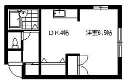 エンドレス三井南6条[00103号室]の間取り