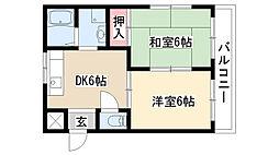愛知県名古屋市緑区鳴海町字向田の賃貸マンションの間取り