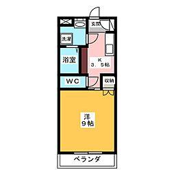メゾンブローニュ 7[2階]の間取り