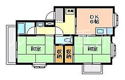 サンハイツ多井田A棟[202号室]の間取り