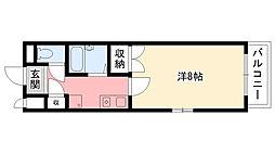 オキサ甲子園口[305号室]の間取り
