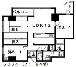 キャナルコート[701号室号室]の間取り