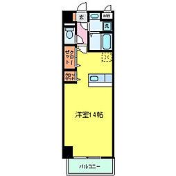 兵庫県明石市魚住町金ヶ崎の賃貸マンションの間取り