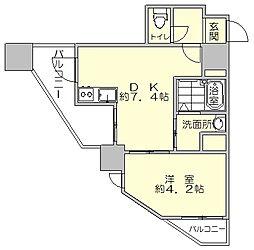 福岡県福岡市南区那の川2丁目の賃貸マンションの間取り