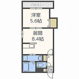 ディッセン豊平橋[2階]の間取り
