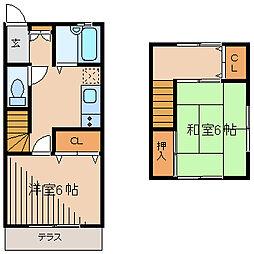 [タウンハウス] 神奈川県相模原市南区文京2丁目 の賃貸【神奈川県 / 相模原市南区】の間取り