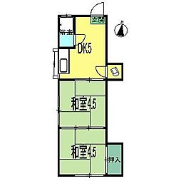みどり荘[3階]の間取り