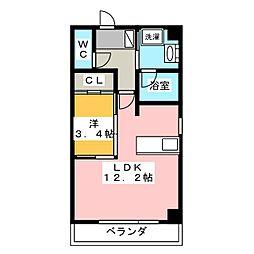 N−GLANZ[4階]の間取り