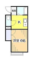 東京都国分寺市本町4丁目の賃貸アパートの間取り