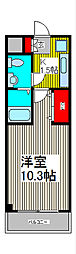 埼玉県川口市南鳩ヶ谷5の賃貸マンションの間取り
