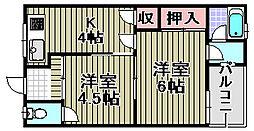 阪南マンション[1号室]の間取り