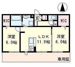 リート623E[1階]の間取り