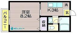 東京都世田谷区八幡山3の賃貸アパートの間取り