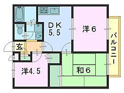 メゾンドパッション[2階]の間取り