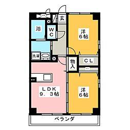 SUN NAGATA[4階]の間取り
