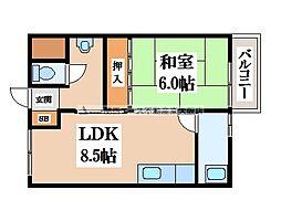 中野マンション[2階]の間取り