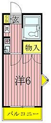 千葉県柏市豊住2の賃貸アパートの間取り