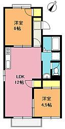 プリマカーサ[2階]の間取り