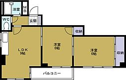マンション・リラ[4階]の間取り