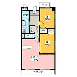 アネックス稲沢駅前[2階]の間取り
