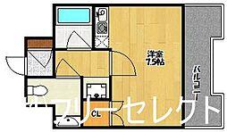 リリーフ天神東[4階]の間取り