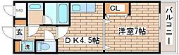 兵庫県神戸市須磨区大手町2丁目の賃貸マンションの間取り