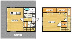 福岡市地下鉄空港線 東比恵駅 徒歩6分の賃貸マンション 7階1LDKの間取り