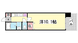 レジディア三宮東[5階]の間取り