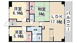 東急ドエル・アルス川西多田ENCER[502号室]の間取り