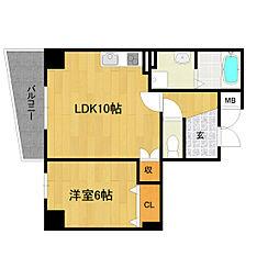 LaMaison輝[4階]の間取り