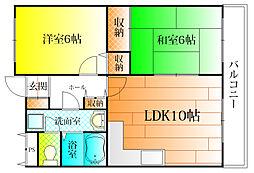 Ti45[3階]の間取り