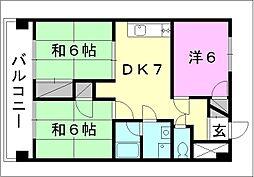 コンフォート桜 6[206 号室号室]の間取り