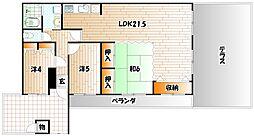 福岡県北九州市小倉南区企救丘6丁目の賃貸マンションの間取り
