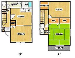 [一戸建] 神奈川県横須賀市小矢部3丁目 の賃貸【/】の間取り
