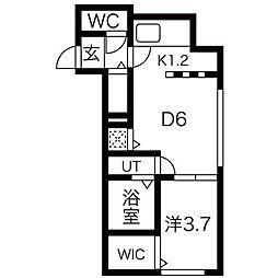 仮)発寒3-6B棟[4階]の間取り