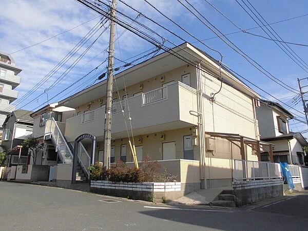 埼玉県草加市花栗1丁目の賃貸アパートの外観