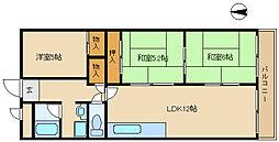 セレニティ武庫之荘[2階]の間取り